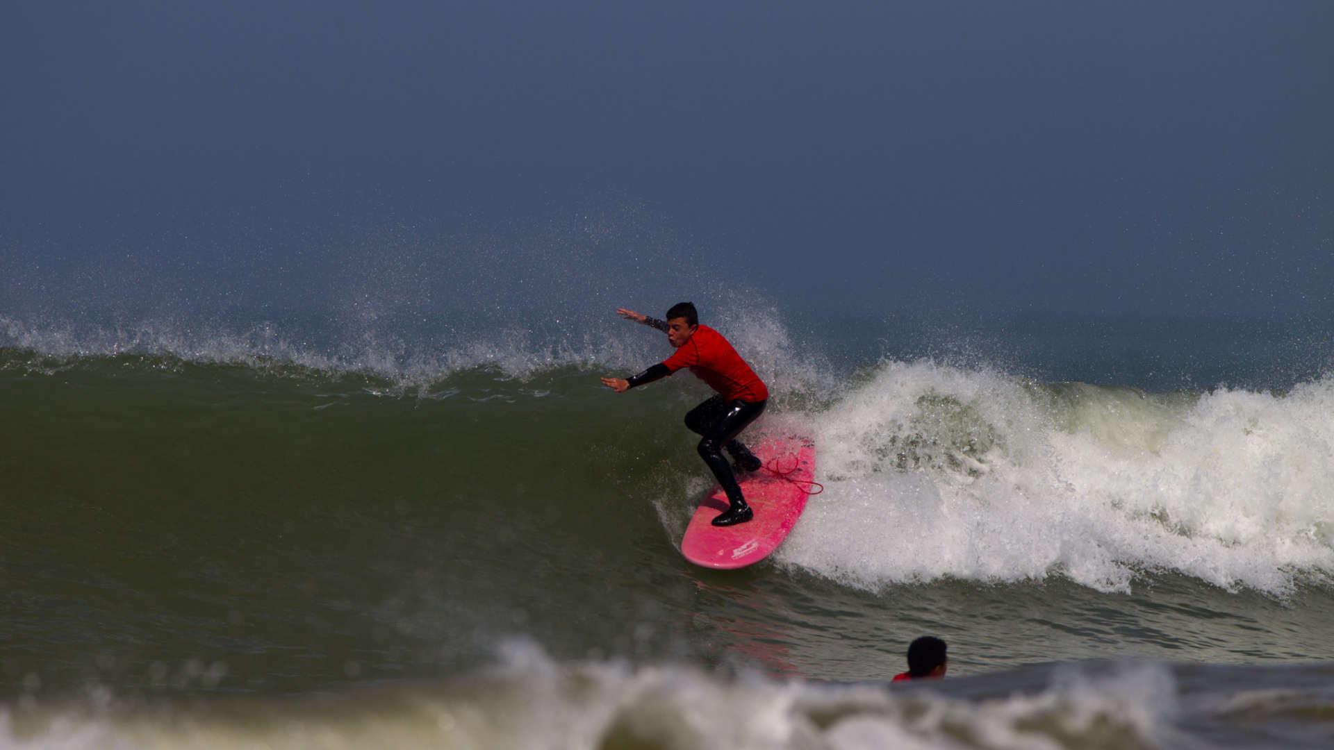 Surf en séance niveau rouge